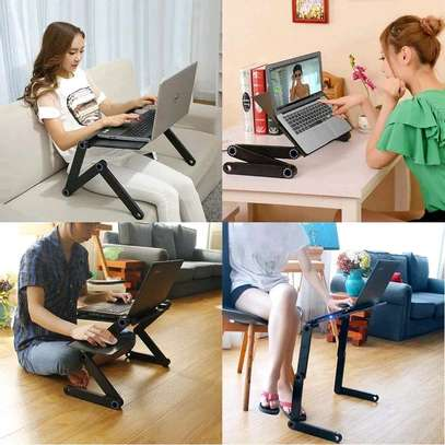 ADJUSTABLE LAPTOP STAND WITH MOUSE PAD(no fan) image 1