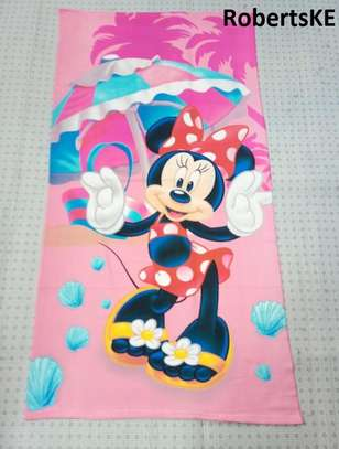 pink mickey mouse kids towel image 1