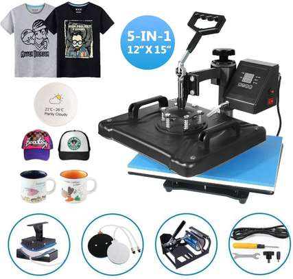 5 in 1 Digital Sublimation for T-Shirt/Mug/Hat Plate/Cap