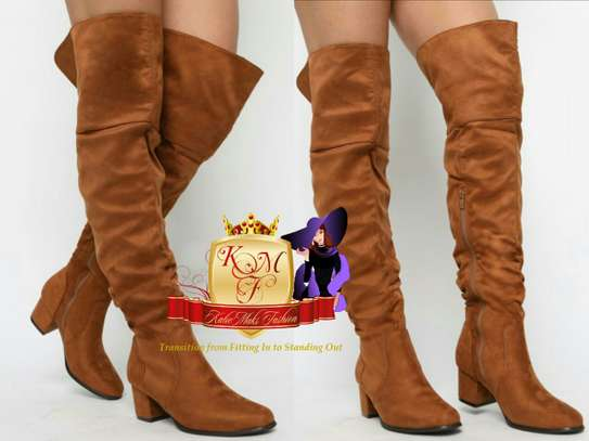 Flat Above Knee Boots image 6