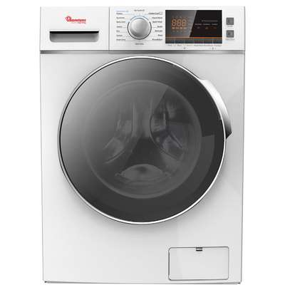 RAMTONS FRONT LOAD FULLY AUTOMATIC 8KG WASHER, 6KG DRYER, SILVER + FREE PERSIL GEL- RW/146 image 1