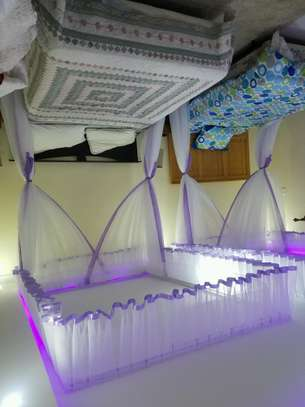 Rail Shears Mosquito Nets Sliding Like Curtains Fixed On The Ceiling image 10