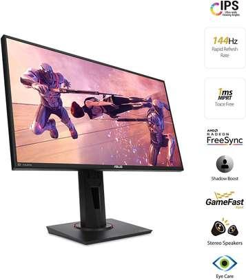 "Asus VG259Q 24.5"" Gaming Monitor 144Hz Full HD (1920 X 1080) 1ms IPS Elmb FreeSync Eye Care DisplayPort HDMI image 1"