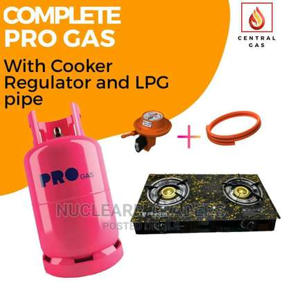 Complete PRO Gas With Gas a Regulator, LPG Gas Pipe Cooker image 1