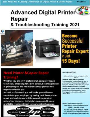 Advanced Copier and Printer Repair Training image 1