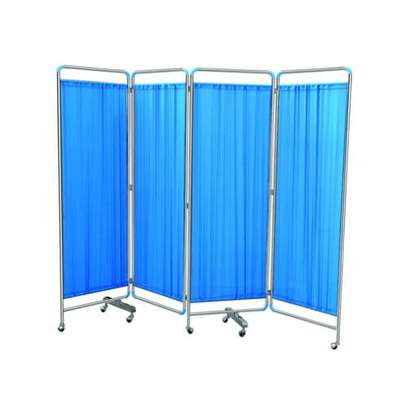 4 Fold Patient screen raisers - Hospital Bed/Ward privacy Screen image 1