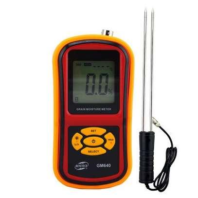 Grain Moisture Meter Corn Wheat Rice Bean Wheat +Measuring Probe GM640 Portable LCD Digital Hygrometer Humidity Tester image 3