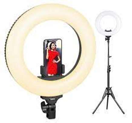 14 inch Ring Light Dimmable Desktop Ring Light 3 Light Modes LED ring light for makeup youtube image 1