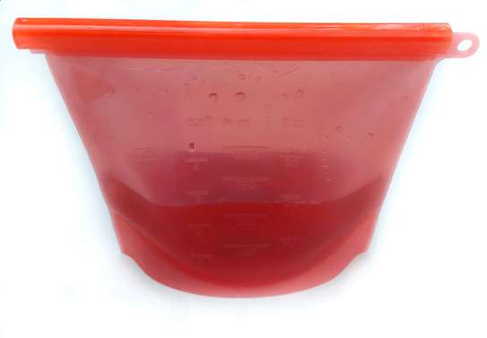 Silicone bags red image 1