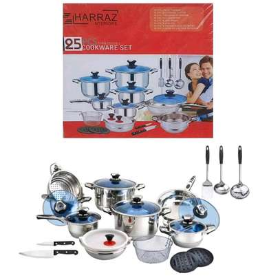 25pc Harraz stainless Induction Cookerware image 3