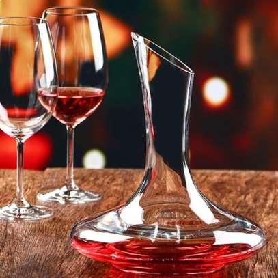 decanter set plus wine glases image 1