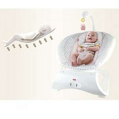 Baby care music rocking chair with 3 Gears Vibration Soothing Belt Voice-blue image 4