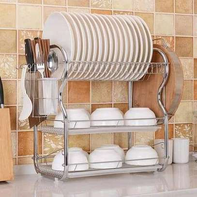 Dish Rack ‐ 3 Tier with  Drain image 1