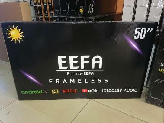Eefa 50 inch smart 4k uhd android frameless TV image 1