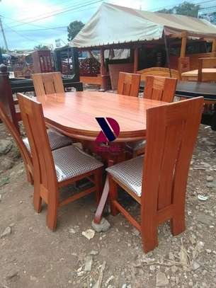 Oval 6 Seater Dining Table Set (401) image 13