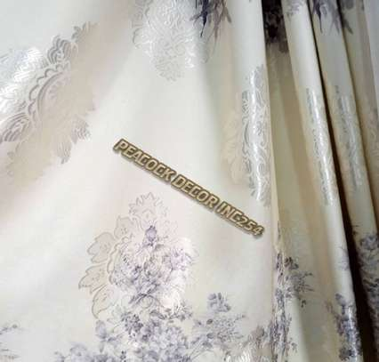Elegant printed curtains and sheers image 7