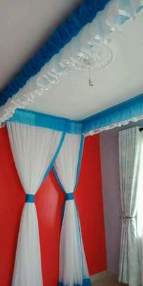 Mosquito Nets Sliding Like Curtains Fixed On The Ceiling image 12