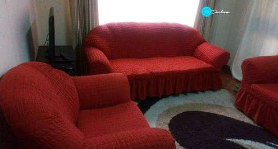 red 5 seater sofa covers image 1