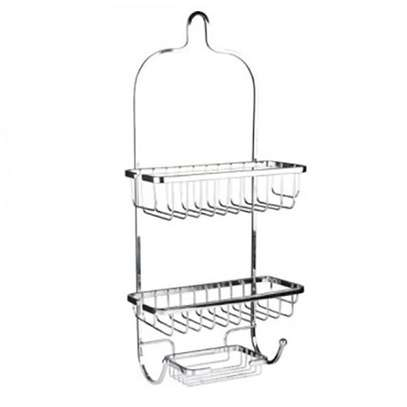 Bathroom Organisers Vertical Fit Shower Caddy -Grey image 1