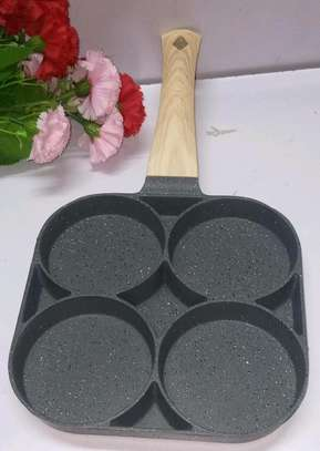 *High Quality heavy granite non~stick 4slot pancake/egg  pan* image 2