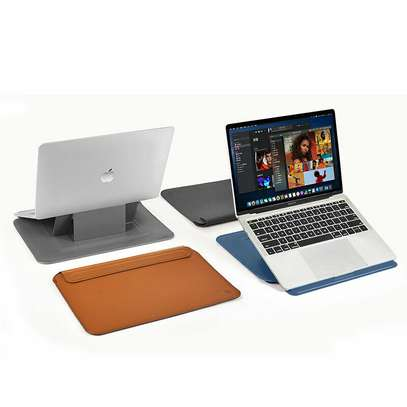 Leather Sleeve Laptop Bag With Stand Holder Computer image 4