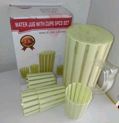 Water jug with 5pcs cups image 1