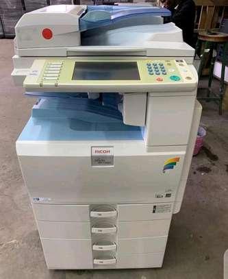 Colored Ricoh Aficio Mpc 2551 photocopier machine image 1
