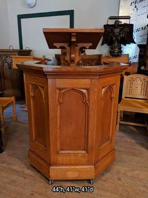 Church Mahogany Pulpits pedestals image 2