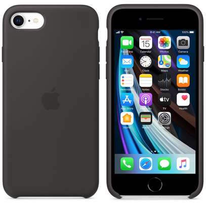 Silicone Cover High Quality  with Soft-Touch Back Protective Case for iPhone SE 2020 image 1