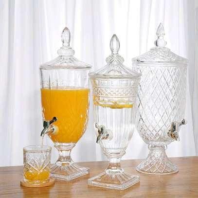 Multi-purpose drink dispenser Material heavy glass  Capacity 3ltrs image 4