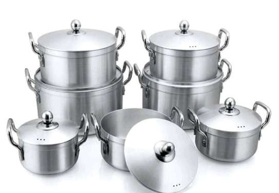 7pcs STAINLESS COOKWARE image 2