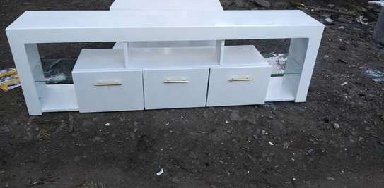 a white Tv stand image 1