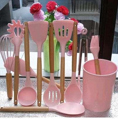 Non stick spoon set image 1