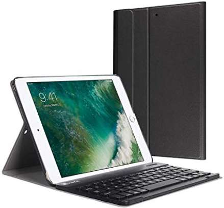 Removable Bluetooth Wireless Keyboard PU Leather Tablet Stand Cover Case for iPad 9.7 2017/2018 models[iPad 5th gen/6th gen] iPads image 3