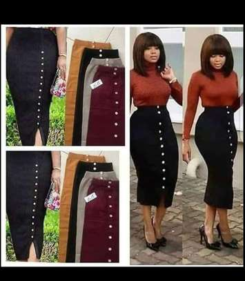 BUTTONED LONG SKIRT