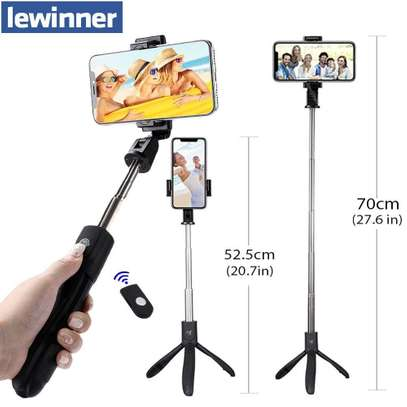 K05 Selfie Stick Tripod Stand 4 in 1 Extendable Monopod Bluetooth Remote Phone Mount for iPhone X 8 Android Gopro image 4