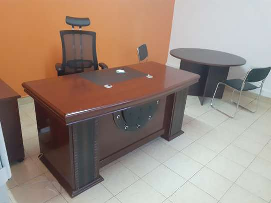 Executive Office Mahogany Desk 1.6Meters With Free Delivery & Installation image 4