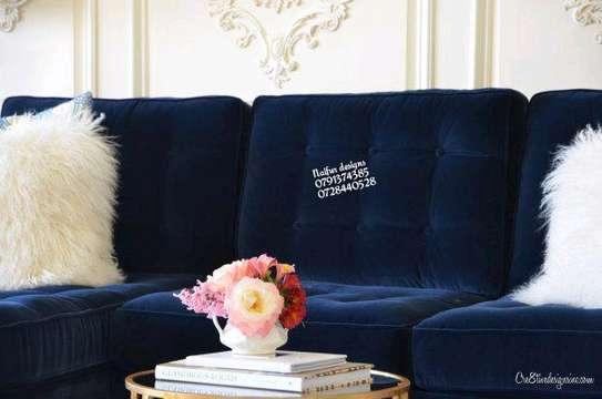 Modern livingroom sofas/blue sofas/six seater sofa image 3