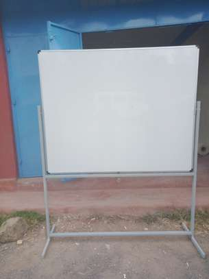 Double/Single Side Whiteboards On A Stand With Wheels image 1