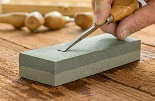 Double Sided Grit Knife Sharpening Oil Stone image 1