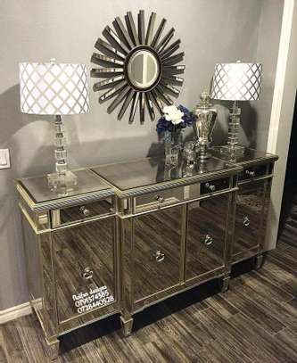 Mirrored buffet table/modern console tables image 1