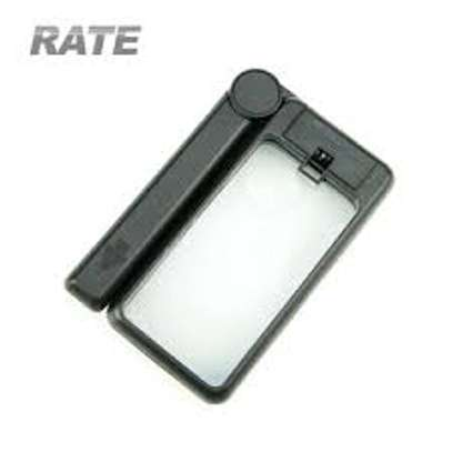 2 in 1 Powerful Magnifying Glass - Plastic Frame