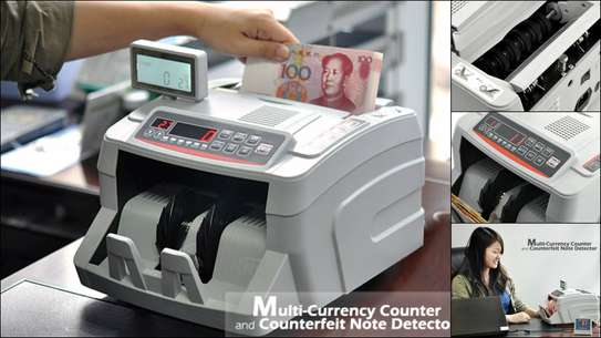 Multi Currency Counter and Counterfeit Note Detector. image 2