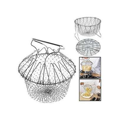 Chef Buddy Stainless Steel Steam / Fry / Wash Strain Basket (+ Free Gift Hand Towel). image 2