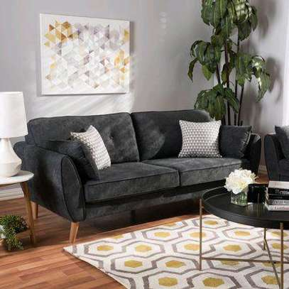 Black two seater sofa/sofas for sale in Nairobi Kenya/Wooden sofas and couches/sectionals kenya image 1