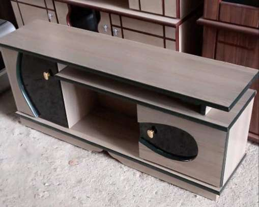 Ready to deliver 2 door and storage compartment tv stand image 1