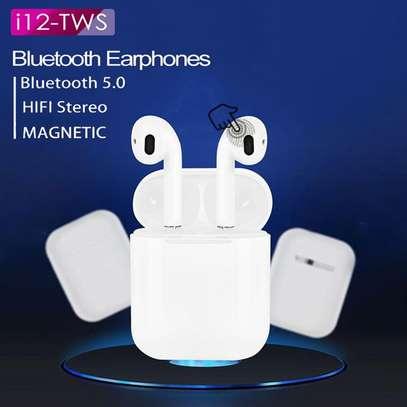 i12 TWS Airpods wireless Bluetooth Earphone Bluetooth 5.0 Earbuds sport Headset image 1