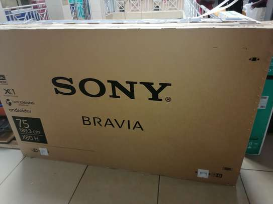 Sony 75 inches X8000H android 4k TV image 1