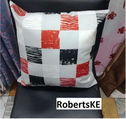Matched red Throw pillows image 1