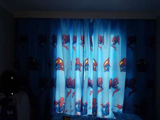 Kids cartoon themed curtains image 2